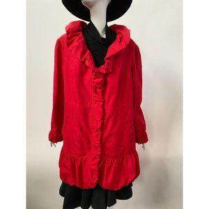 Plus-Sized Red Ruffle Jacket by Roaman's